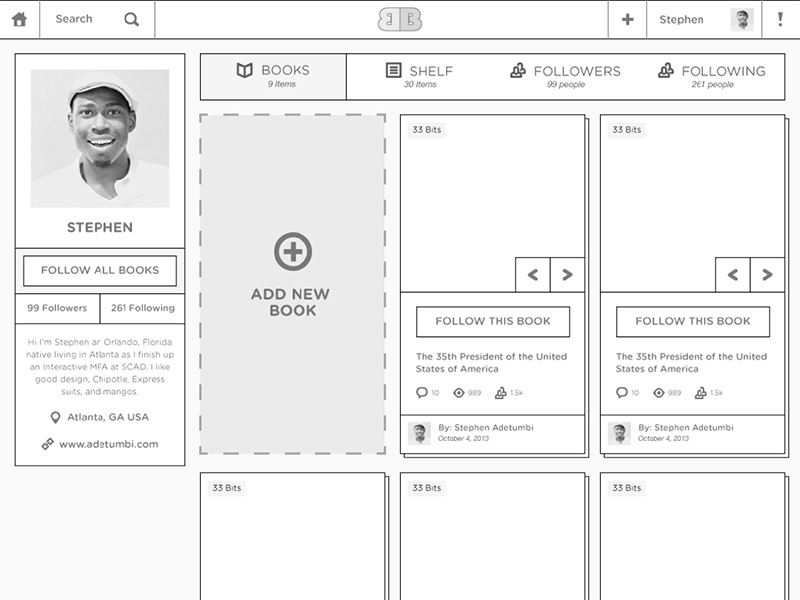 Wireframe-Profile Page
